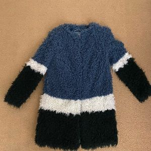 Shrimps Coat in blue white navy size Small